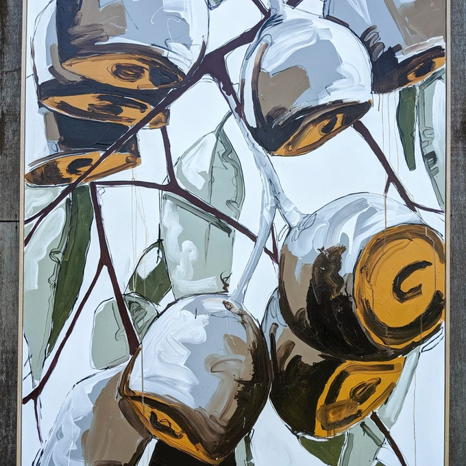 (CreativeWork) When Silver Met Gold by Aidan Weichard. acrylic-painting. Shop online at Bluethumb.