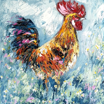 (CreativeWork) Rooster - FRAMED by Angela Hawkey. #<Filter:0x0000562d1d8bc8d8>. Shop online at Bluethumb.
