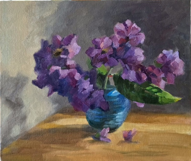 (CreativeWork) Native crepe myrtle by Katia Strounina. Oil Paint. Shop online at Bluethumb.