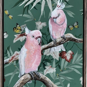 (CreativeWork) Vintage Flora & Fauna Series - Major Mitchells by HEYLIE MORRIS. #<Filter:0x00007f7b9f588578>. Shop online at Bluethumb.