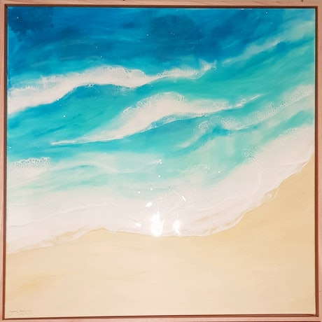 (CreativeWork) Beach Memories by Tracy Chalk. Resin. Shop online at Bluethumb.