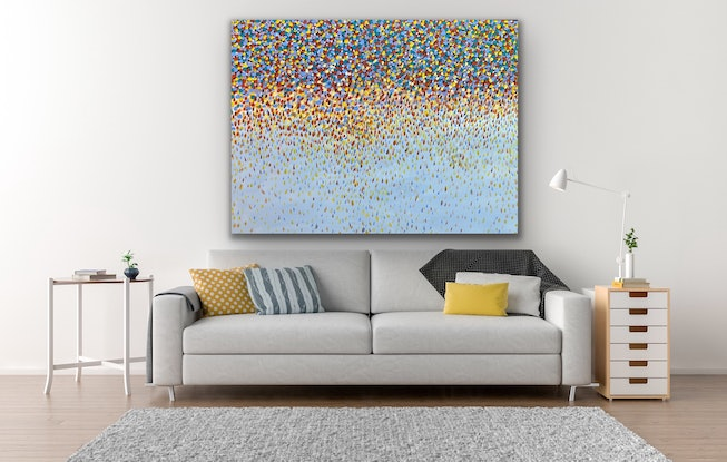 (CreativeWork) Opal Petals  by Theo Papathomas. #<Filter:0x00007f4820fca750>. Shop online at Bluethumb.