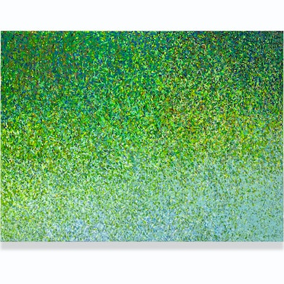 (CreativeWork) GREEN MIGRATION  Acrylic paint on canvas by George Hall. Acrylic Paint. Shop online at Bluethumb.