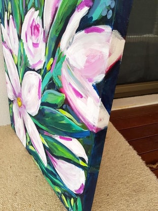 (CreativeWork) SPRING BLOOMS 5  by Leigh Elks. Acrylic Paint. Shop online at Bluethumb.
