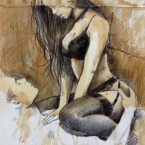 (CreativeWork) TALES OF PASSION by loui jover. drawing. Shop online at Bluethumb.