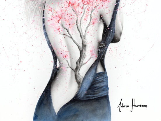 (CreativeWork) Her Blossom by Ashvin Harrison. Acrylic Paint. Shop online at Bluethumb.