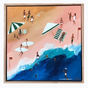 (CreativeWork) South Beach by Marnie McKnight. acrylic-painting. Shop online at Bluethumb.