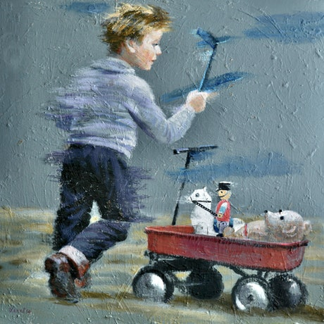 (CreativeWork) Toys of my childhood by Valentin Varetsa. Oil Paint. Shop online at Bluethumb.