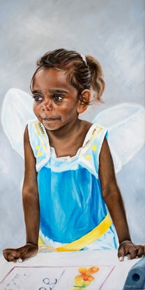 (CreativeWork) Fairy in the classroom II by Al Strangeways. Oil Paint. Shop online at Bluethumb.