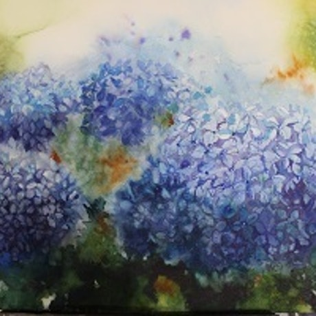 (CreativeWork) Dreams in Blue by Jude Scott. Watercolour Paint. Shop online at Bluethumb.