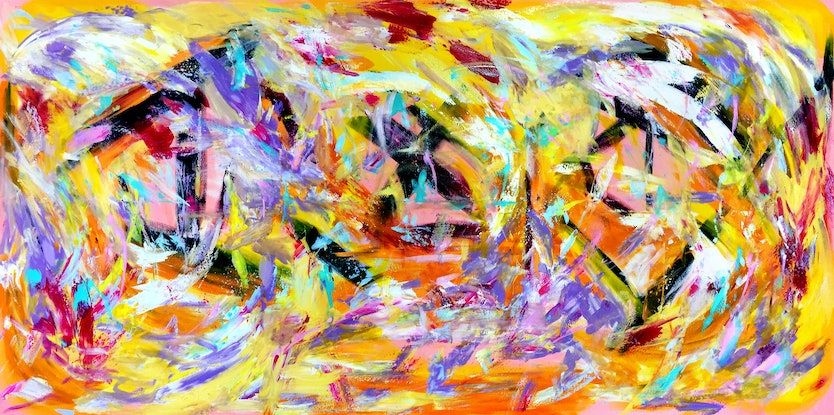 (CreativeWork)  Apparent Complexity by Estelle Asmodelle. Acrylic Paint. Shop online at Bluethumb.