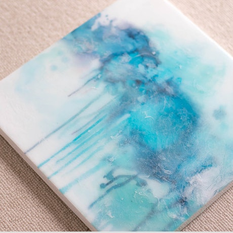 (CreativeWork) Tranquility by Stephanie Lisa. Resin. Shop online at Bluethumb.