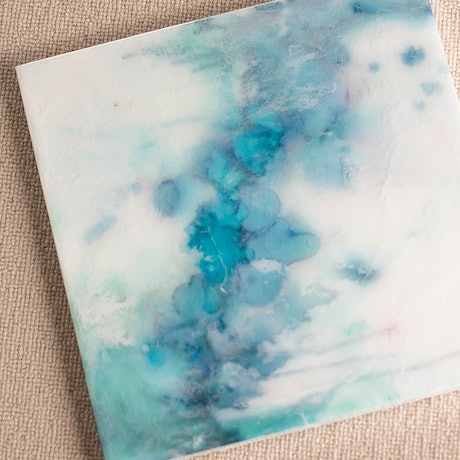 (CreativeWork) Serenity by Stephanie Lisa. Resin. Shop online at Bluethumb.
