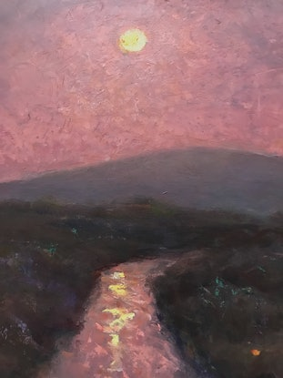 (CreativeWork) Evening  Stream by Howard Sparks. Oil Paint. Shop online at Bluethumb.