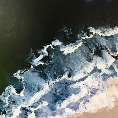 (CreativeWork) Dark & Stormy by Tracey Mulroy. Acrylic Paint. Shop online at Bluethumb.