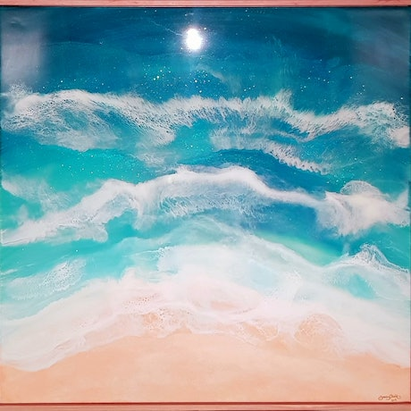 (CreativeWork) Pure Port Phillip by Tracy Chalk. Resin. Shop online at Bluethumb.