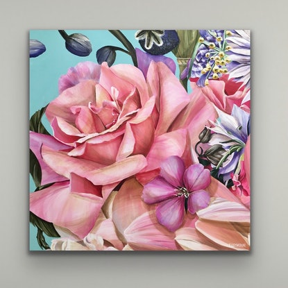 (CreativeWork) SIMPLICITY  by Treena Seymour. Acrylic Paint. Shop online at Bluethumb.