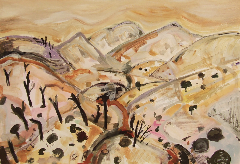 (CreativeWork) Along the track, Vulkathunha-Gammon Ranges by Suzannah Jones. other-media. Shop online at Bluethumb.