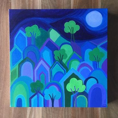(CreativeWork) It Takes A Village II - acrylic on canvas  by Shana Danon. Acrylic Paint. Shop online at Bluethumb.