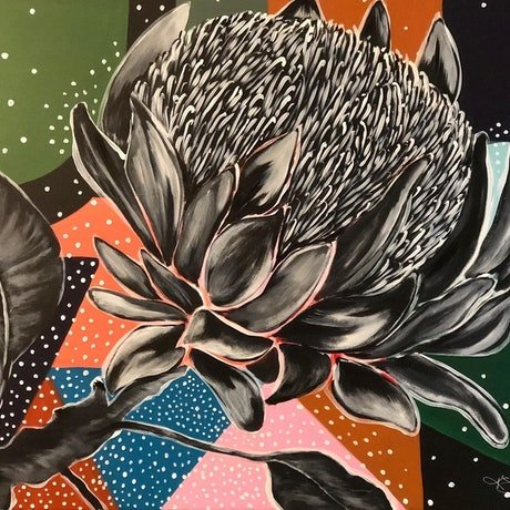 (CreativeWork) King of the Bush by Kirsty Godwin. Acrylic Paint. Shop online at Bluethumb.