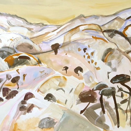 (CreativeWork) A view from Grindell's Hut #4 by Suzannah Jones. Other Media. Shop online at Bluethumb.