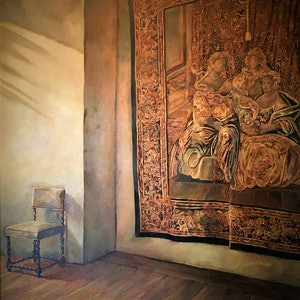(CreativeWork) Italian Tapestry by Kerry Doran. oil-painting. Shop online at Bluethumb.