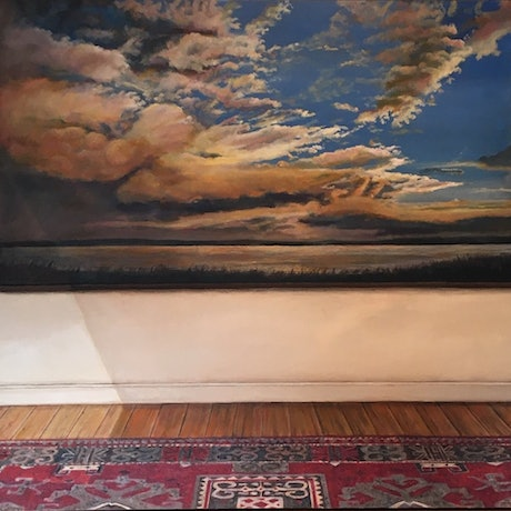 (CreativeWork) View Within a Room by Kerry Doran. Oil Paint. Shop online at Bluethumb.