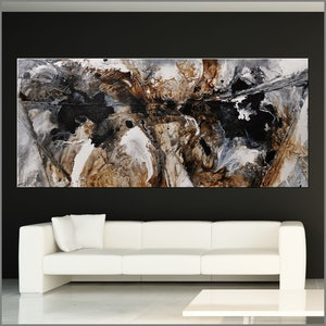 (CreativeWork) Giant Black Russian 270cm x 120cm  Black White Rust Texture Acrylic Gloss Finish Abstract by _Franko _. #<Filter:0x00007f0828fd9a58>. Shop online at Bluethumb.