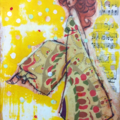 (CreativeWork) DOTTY DANCE by LAURIE MCKERN. mixed-media. Shop online at Bluethumb.
