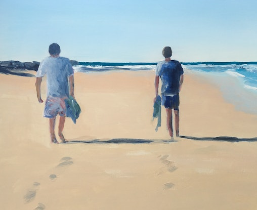 (CreativeWork) Father and Son by Meredith Howse. Acrylic Paint. Shop online at Bluethumb.