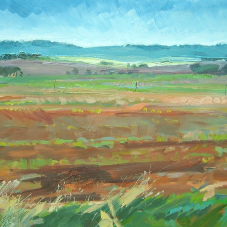 (CreativeWork) Rural Idyll by Lise Temple. Oil Paint. Shop online at Bluethumb.