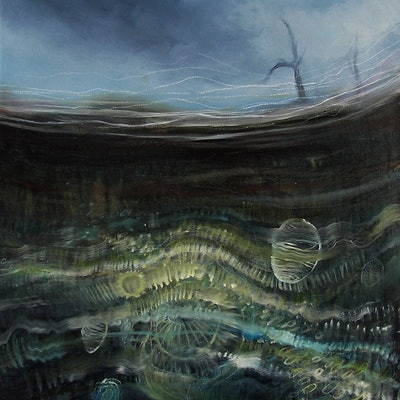 (CreativeWork) Life Beneath by Erin Amor. Oil Paint. Shop online at Bluethumb.