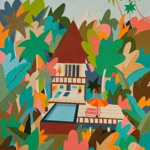 (CreativeWork) Surrounded by the Nature by Bruno Mota. acrylic-painting. Shop online at Bluethumb.