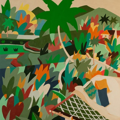(CreativeWork) The Rice Field by Bruno Mota. acrylic-painting. Shop online at Bluethumb.