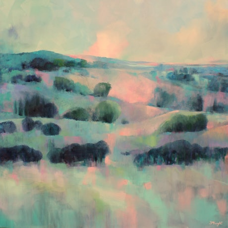(CreativeWork) Morning Mist by Sandra Michele Knight. Oil Paint. Shop online at Bluethumb.