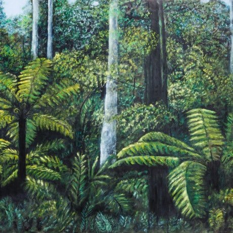 (CreativeWork) Green Peace by Dennis Arnold. Oil Paint. Shop online at Bluethumb.