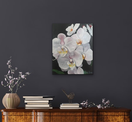 (CreativeWork) The Gap Orchid 4 by Meredith Howse. Oil Paint. Shop online at Bluethumb.
