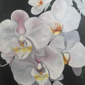 (CreativeWork) The Gap Orchid 4 by Meredith Howse. oil-painting. Shop online at Bluethumb.