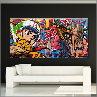(CreativeWork) Speedy Speed 240cm x 120cm Speed Racer Urban Pop Art Textured Acrylic Gloss Finish FRANKO by _Franko _. #<Filter:0x00005576861ed280>. Shop online at Bluethumb.