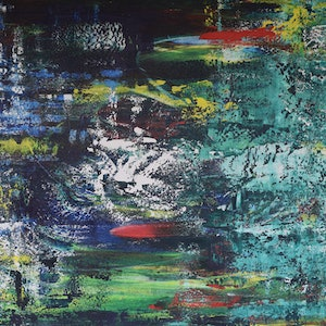 (CreativeWork) Fishes in the Water by Ric Connors. acrylic-painting. Shop online at Bluethumb.