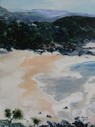 (CreativeWork) Cabarita  by Meredith Howse. Acrylic Paint. Shop online at Bluethumb.