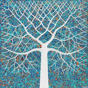 (CreativeWork) Tree - Earths Elements Abstract by Miranda Lloyd. mixed-media. Shop online at Bluethumb.
