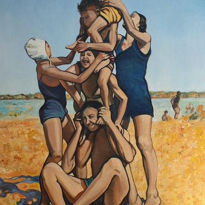 (CreativeWork) The Human Totem Pole by Sherry McCourt. #<Filter:0x000055ba67aeeb98>. Shop online at Bluethumb.