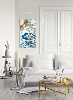 (CreativeWork) Atolls #2 by Brigitte Ackland. Acrylic Paint. Shop online at Bluethumb.