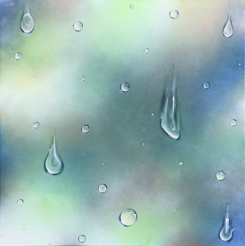 (CreativeWork) Precious Rain Drops by Andrea Marriette. Acrylic Paint. Shop online at Bluethumb.