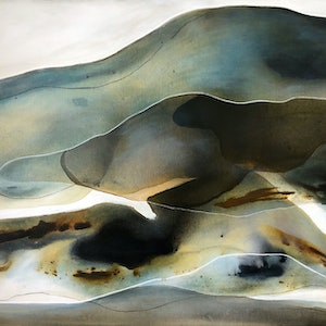 (CreativeWork) Sand Drift 2  by Dinah Wakefield. acrylic-painting. Shop online at Bluethumb.
