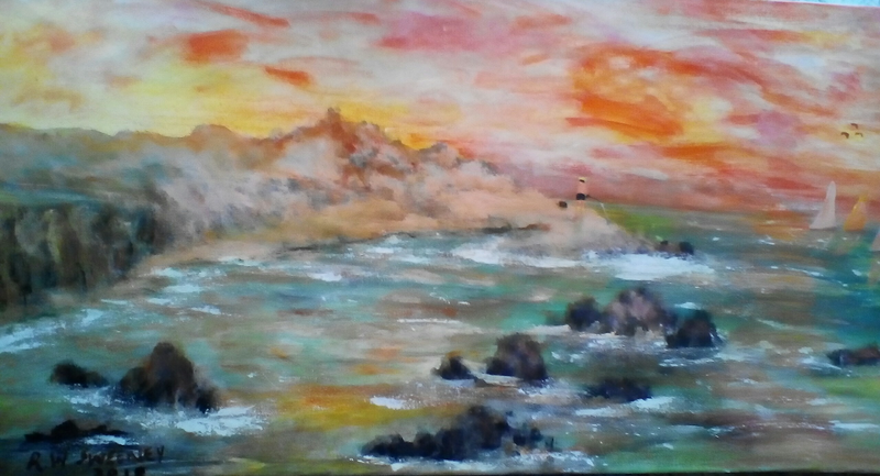 (CreativeWork) Morning Glow by Robin Sweeney. Acrylic Paint. Shop online at Bluethumb.