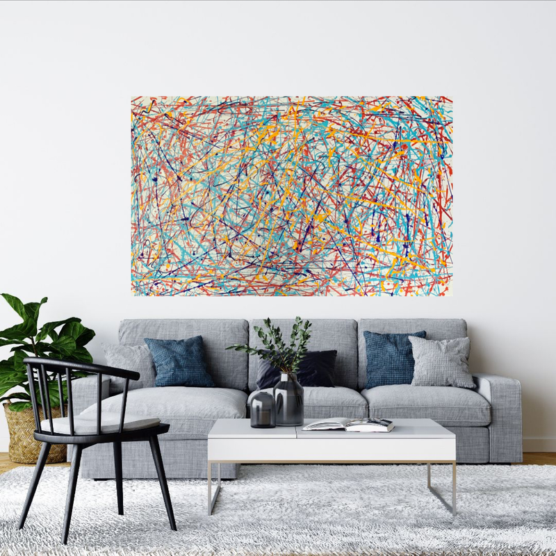 (CreativeWork) Old school colour by Tom Roso. Acrylic Paint. Shop online at Bluethumb.