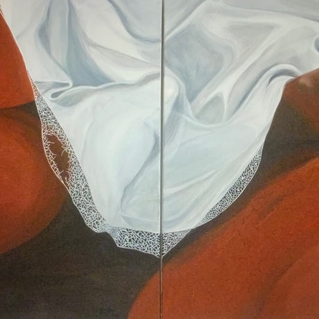 (CreativeWork) Snooze by Tom Koch. Oil Paint. Shop online at Bluethumb.