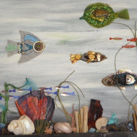 (CreativeWork) Marine by Melanie Duncan. Mixed Media. Shop online at Bluethumb.